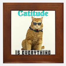 Catitude Framed Tile
