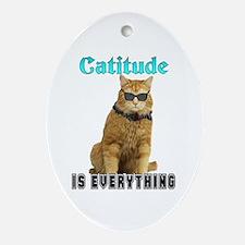 Catitude Oval Ornament