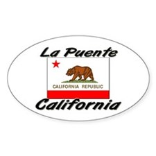 La Puente California Oval Decal