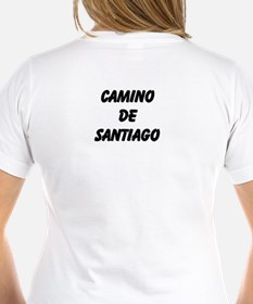 Camino Poem Women's V-Neck T-Shirt (2 Sided)