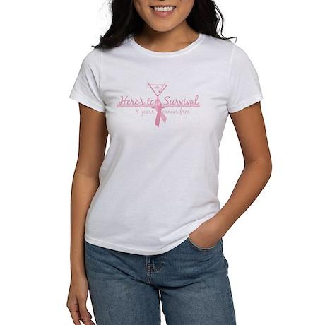 Cancer Free 8 years (martini) Women's T-Shirt