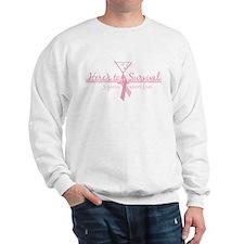 Cancer Free 5 years (martini) Sweatshirt