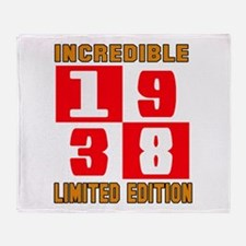Incredible 1938 Limited Edition Throw Blanket