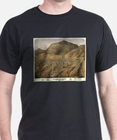 Vintage Pictorial Map of Virginia City Nev T-Shirt