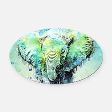 Unique Elephant Oval Car Magnet