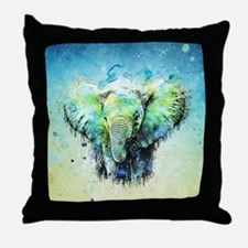 Funny Elephant Throw Pillow