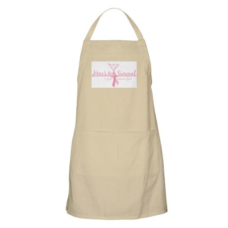 Cancer Free 1 years (martini) BBQ Apron