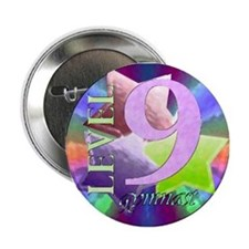 "Level 9 Gymnast 2.25"" Button (10 pack)"