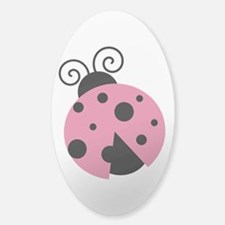Pink Lady Bug Decal