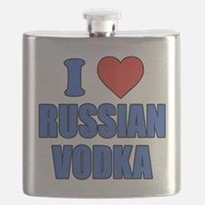 I Love Russian Vodka Flask