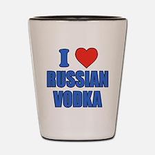 I Love Russian Vodka Shot Glass