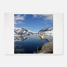 Waterfowl waterway 5'x7'Area Rug