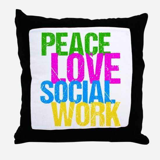 Social Work Cute Throw Pillow