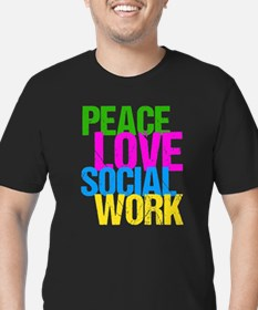 Social Work Cute Men's Fitted T-Shirt (dark)