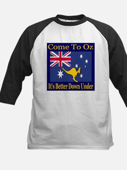 Come To Oz It's Better Down U Kids Baseball Jersey