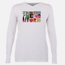 Unique New York - Block Plus Size Long Sleeve Tee