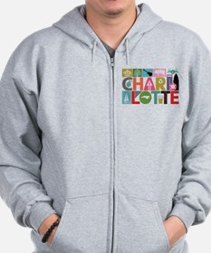 Unique Charlotte - Block by Block Zip Hoodie