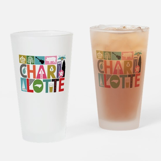 Unique Charlotte - Block by Block Drinking Glass