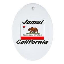 Jamul California Oval Ornament