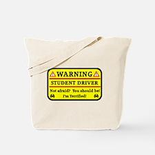Warning Student Driver Tote Bag