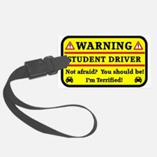 Warning Student Driver Luggage Tag
