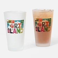Unique Portland - Block by Block Drinking Glass