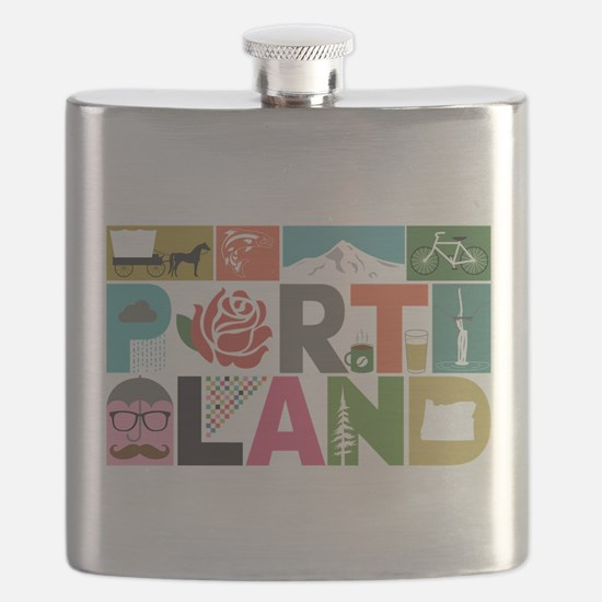Unique Portland - Block by Block Flask