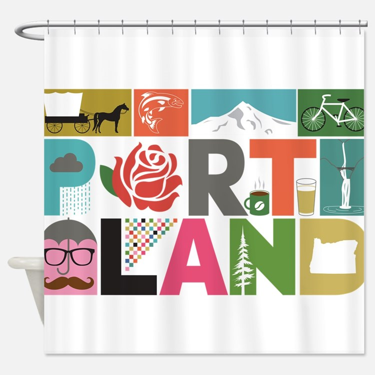 Portland Shower Curtains | Portland Fabric Shower Curtain Liner