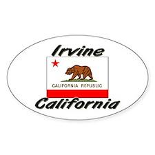 Irvine California Oval Decal