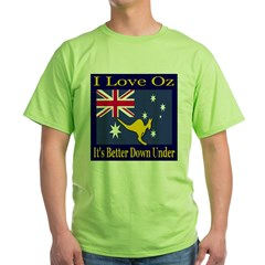 I Love Oz Green T-Shirt