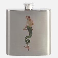 Vintage Pin Up Mermaid ~ Summer Flask