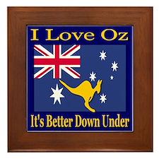 I Love Oz Framed Tile