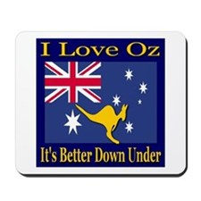 I Love Oz Mousepad