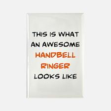 awesome handbell ringer Rectangle Magnet