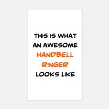 awesome handbell ringer Sticker (Rectangle)