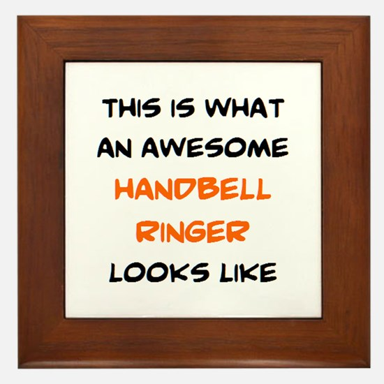 awesome handbell ringer Framed Tile