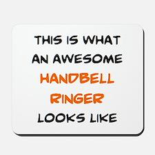 awesome handbell ringer Mousepad