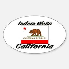 Indian Wells California Oval Decal