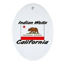 Indian Wells California Oval Ornament