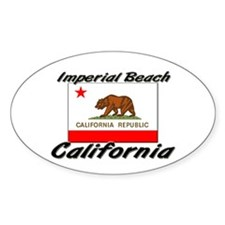 Imperial Beach California Oval Decal