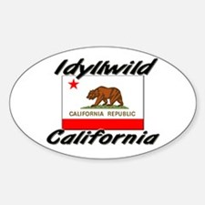 Idyllwild California Oval Decal