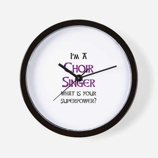 choir singer Wall Clock