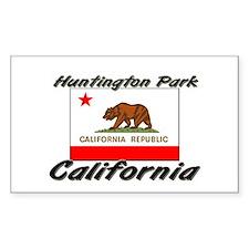 Huntington Park California Rectangle Decal