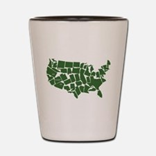 America: All Mixed Up Shot Glass