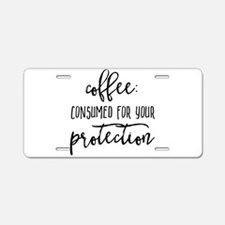 COFFEE PROTECTION Aluminum License Plate