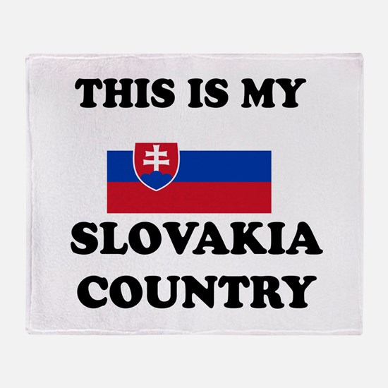 This Is My Slovakia Country Throw Blanket