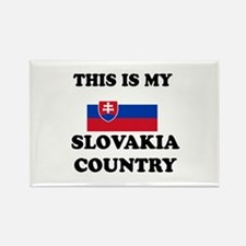 This Is My Slovakia Country Rectangle Magnet