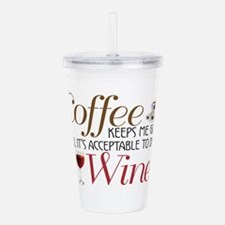 Coffee Wine Acrylic Double-Wall Tumbler