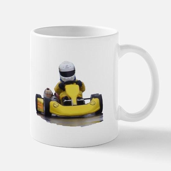 Kart Racing Yellow Kid Kart Mugs