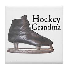 Hockey Grandma Vintage Tile Coaster